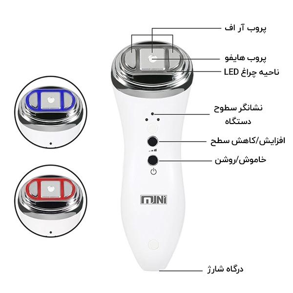 مشخصات اجزای تشکیل دهنده دستگاه مینی هایفو